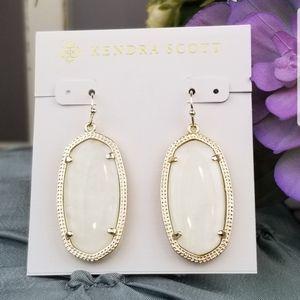 Kendra Scott, Elle, Ivory Pearl, Earrings